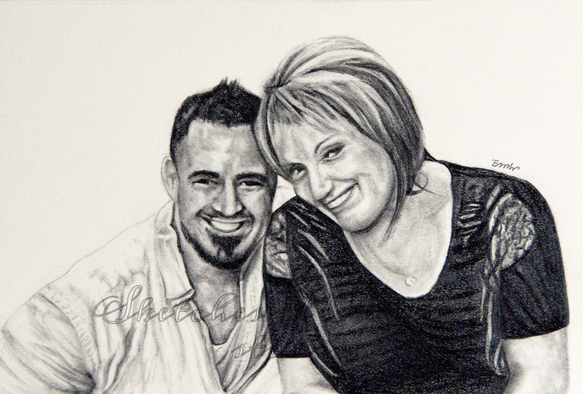 'Eternal Bond' a drawing of a mother and son. 4x6 inches. Completed January 2020